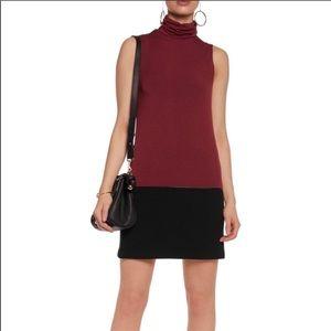 Bailey 44 size XS turtleneck dress burgundy black
